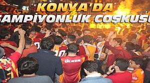 Konya'da Şampiyonluk Kutlaması