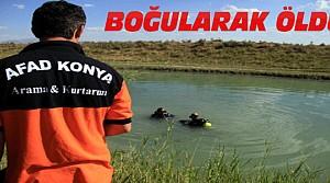 Konya'da Serinlemek İçin Girdiği Kanalda Boğuldu