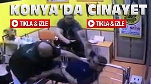 Konya'da Spor Salonunda Cinayet-VİDEO
