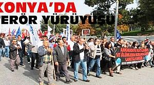 Konya'da Terörü Protesto Yürüyüşü