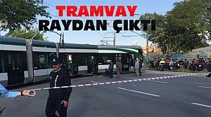 Konya'da Tramvay Raydan Çıktı-Trafik ve Seferler Durdu
