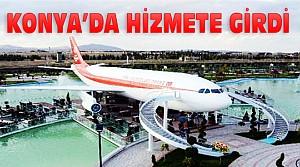 Konya'da uçak restoran ve kafe hizmete girdi