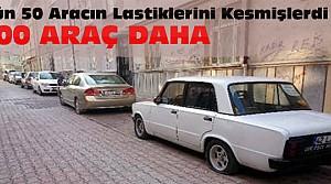 Konya'da Yine 100 Aracın Lastiklerini Kestiler