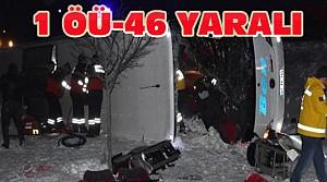 Konya'da Yolcu Otobüsü Devrildi-1 Ölü 46 Yaralı