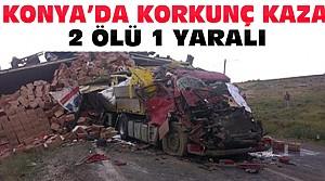 Konya'daki Feci Kazada 2 Kişi Öldü 1 Yaralı