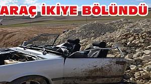 Konya'daki Kazada Araç Ortadan İkiye Bölündü