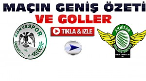 Konyaspor-Akhisar Belediyespor-ÖZET-VİDEO