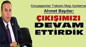 Konyaspor Basın Sözcüsü Baydar'dan Açıklama