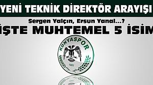 Konyasporun Teknik Direktörü Kim Olacak? 5 İsim