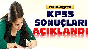 KPSS Sonuçları Açıklandı-Tıkla Öğren