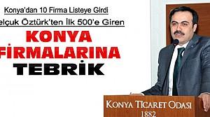 Başkan Öztürk'ten ilk 500'deki Firmalara Tebrik