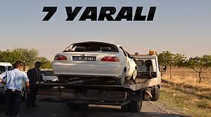 Kulu'da Kaza:Otomobil Takla Attı