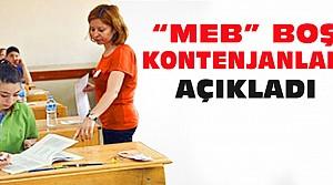 MEB Boş Kontenjanları Açıkladı