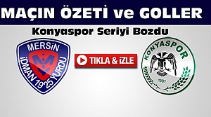 Mersin İdmanyurdu-Konyaspor-ÖZET-VİDEO