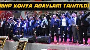 MHP Konya'da Adaylarını Tanıttı