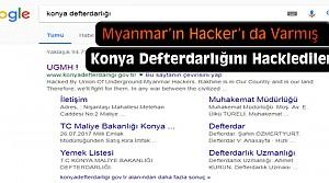 Myanmarlı Hackerlar Konya Defterdarlığına Saldırdı