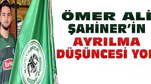Ömer Ali Şahiner Konyasporda Mutlu