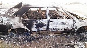 Otomobil Yanmış Olarak Bulundu