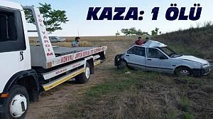 Otomobille TIR Çarpıştı:1 Kişi Öldü