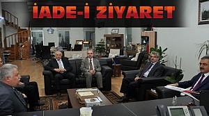 Rektör Şahin'den Rektör Şeker'e Ziyaret