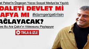 Sedat Peker'in Özgecan Yazısı Sosyal Medyada