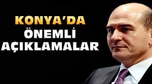 Süleyman Soylu'dan Konya'da Önemli Açıklamalar