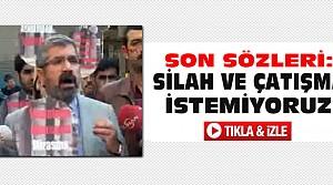 Tahir Elçi'nin Öldürülmeden Önceki Son Sözleri-VİDEO