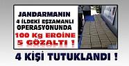 100 Kiloluk Eroin Operasyonunda 4 Kişi Tutuklandı
