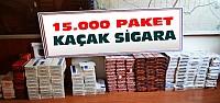 15 bin paket gümrük kaçağı sigara ele geçirildi