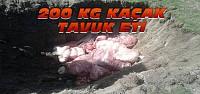 200 Kg kaçak et imha edildi