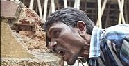 20 yıldır tuğla ve çamurla besleniyor-VİDEO