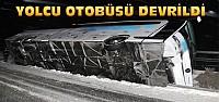 40 Yolculu Otobüs Devrildi