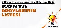 Ak Parti Konya Adayları-Kim Kaldı Kim Gitti?