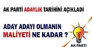 AKP'den Aday Adayı Olmanın Maliyeti  Ne Kadar?