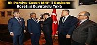 AKP'ye Geçen Başkana Rozetini Davutoğlu Taktı