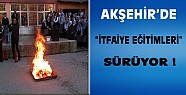 Akşehir'de İtfaiye Eğitimleri Sürüyor