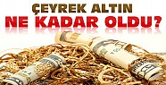 Altın Yükseldi-Konya'da Çeyrek Altın Ne Kadar Oldu
