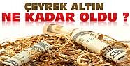 Altın Yükselişte-Konya'da Çeyrek Altın Ne Kadar ?
