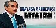 Anayasa Mahkemesi Şener'in Kapatılan Partisi İçin Karar Verdi