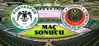 Atiker Konyaspor-Gençlerbirliği Maç Sonucu