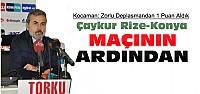 Aykut Kocaman'dan Çaykur Rize Maçı Açıklaması