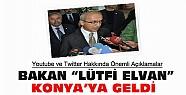 """Bakan Elvan'dan Konya'da """"Youtube ve Twitter"""" açıklaması"""