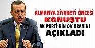 Başbakan Almanya Ziyareti Öncesi Konuştu-AKP'nin Oy Oranını Açıkladı