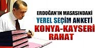 Başbakan'a Sunulan Yerel Seçim Anketi: Konya-Kayseri Rahat
