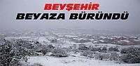 Beyşehir Beyaza Büründü