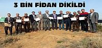 Beyşehir'de 3 Bin Fidan Toprakla Buluşturuldu