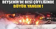Beyşehir'de Besi Çiftliğinde Büyük Yangın!