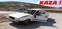 Beyşehir'de Kaza:Otomobil Takla Attı