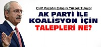 CHP Ak Parti Koalisyonu İçin Neler İstiyor?