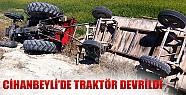 Cihanbeyli'de Traktör Devrildi